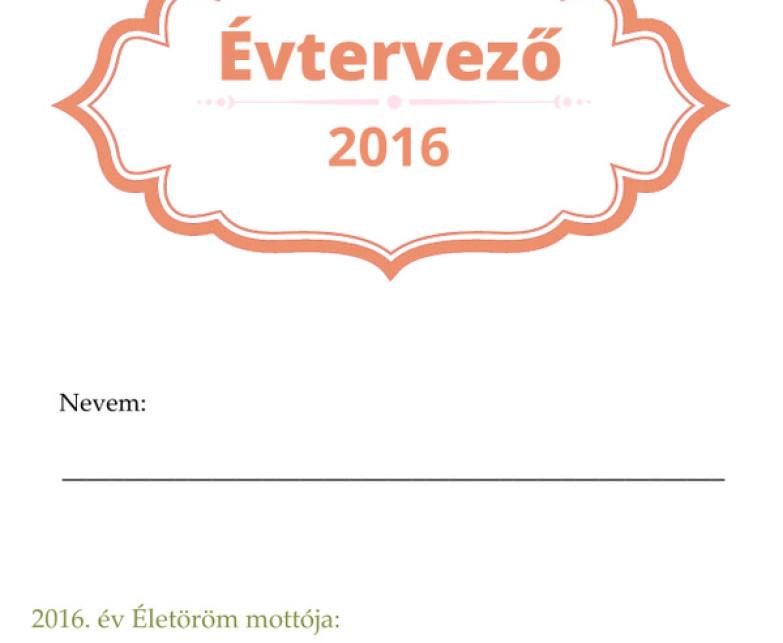 2016-os Évtervező