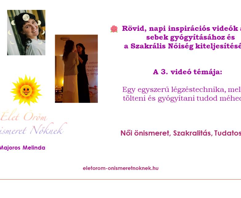 🌺 Rövid, inspirációs videók a női sebek gyógyításához és a Szakrális Nőiség kiteljesítéséhez  🌺